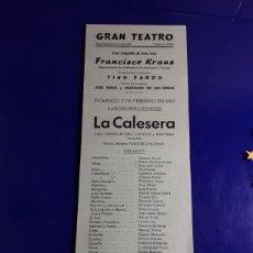 Cine: CARTEL DE TEATRO DE CÓRDOBA DE EL AÑO 3/2/1963. Lote 199409835