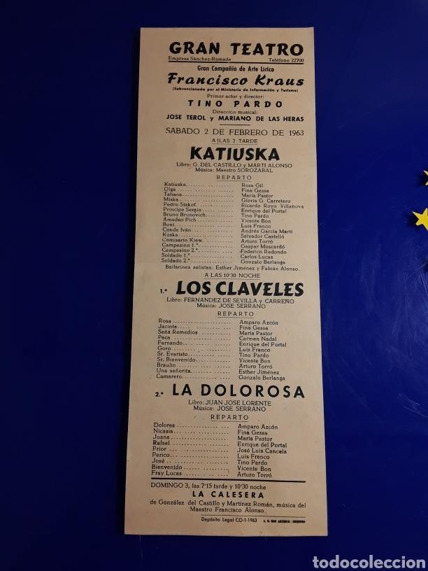 CARTEL DE TEATRO DE CÓRDOBA DE EL AÑO 2/2/1963 (Cine - Posters y Carteles - Clasico Español)