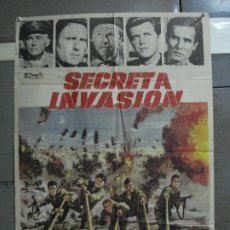 Cinema: CDO 1209 SECRETA INVASION STEWART GRANGER ROGER CORMAN POSTER ORIGINAL 70X100 ESTRENO. Lote 199466797