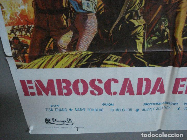 Cine: CDO 1210 EMBOSCADA EN LA BAHIA MICKEY ROONEY HUGH OBRIAN JAMES MITCHUM POSTER ORIG 70X100 ESTRENO - Foto 5 - 199467172