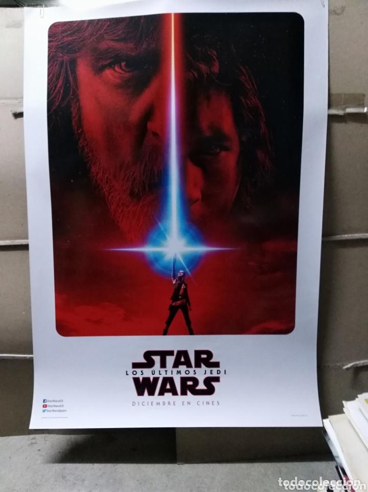STAR WARS LOS ÚLTIMOS JEDI POSTER ORIGINAL 70X100 AVANCE DEL ESTRENO (Cine - Posters y Carteles - Ciencia Ficción)