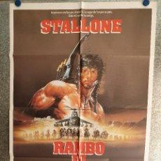 Cine: RAMBO III. SILVESTER STALLONE. AÑO 1988 ESTRENO. POSTER ORIGINAL. Lote 199650667