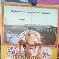 Cine: CARTEL DE CINE HOOPER, EL INCREIBLE (EL DOBLE MAS TEMERARIO DEL MUNDO).1978 BURT REYNOLDS Y. Lote 199659838