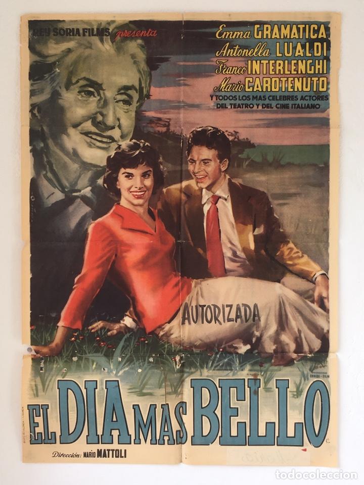 CDO 1239 EL DIA MAS BELLO ANTONELLA LUALDI POSTER ORIGINAL 70X100 ESTRENO (Cine- Posters y Carteles - Drama)