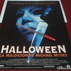 Cine: HALLOWEEN 6 LA MALDICION DE MICHAEL MYERS POSTER A4. Lote 199682632