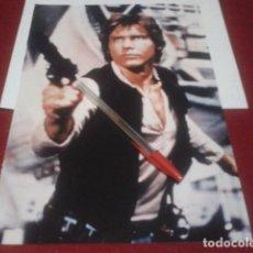 Cine: POSTER A4 ( STAR WARS - LA GUERRA DE LAS GALAXIAS ) HAN SOLO HARRISON FORD. Lote 199683612