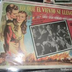Cine: DIFICIL LOBBY CARD DE ,LO QUE EL VIENTO SE LLEVO. Lote 199714251