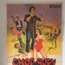 Cine: CDO 1270 CHOP SUEY LA HUELLA DE BRUCE LEE RAMON ZAMORA POSTER ORIGINAL 70X100 ESTRENO. Lote 199762243