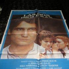 Cine: CARTEL (LOTE DE 2 CARTELES ) DE CINE LAS DOS INGLESAS 68 X 98 1985. Lote 244483810