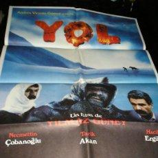 Cine: CARTEL (LOTE DE 2 CARTELES ) DE CINE YOL EL CAMINO 68 X 98 1985. Lote 244483760
