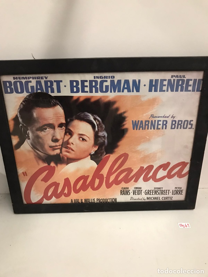 CARTEL DE CINE CASABLANCA (Cine- Posters y Carteles - Drama)
