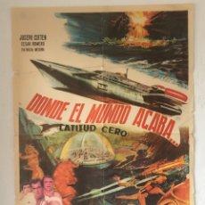 Cine: CDO 1274 DONDE EL MUNDO ACABA ISHIRO HONDA TOHO SCI-FI POSTER ORIGINAL 70X100 DEL ESTRENO. Lote 199839202