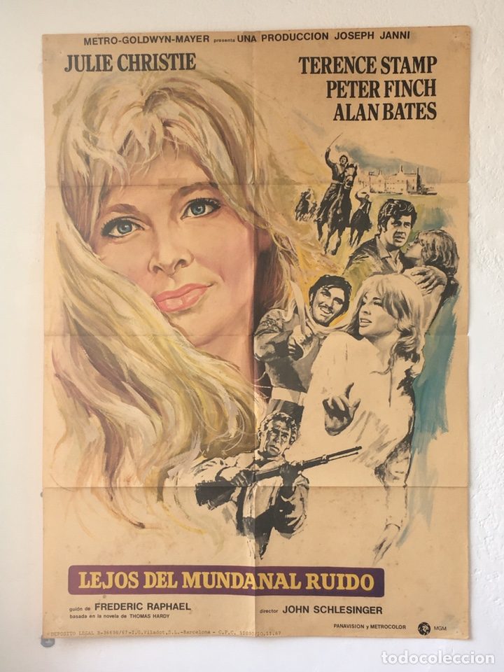 CDO 1289 LEJOS DEL MUNDANAL RUIDO JULIE CHRISTIE POSTER ORIGINAL 70X100 ESTRENO (Cine- Posters y Carteles - Drama)