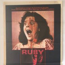 Cine: CDO 1294 RUBY PIPER LAURIE CURTIS HARRINGTON TERROR POSTER ORIGINAL 70X100 ESTRENO. Lote 199848592