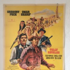 Cine: CDO 1298 EL ORO DE MACKENNA GREGORY PECK POSTER ORIGINAL 70X100 ESTRENO. Lote 199851238