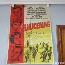 Cinema: CARTEL 99X70CM - ALHUCEMAS - GUERRA AFRICA JULIO PEÑA SARA MONTIEL, PEÑA FILMS, ORIGINAL EPOCA +INFO. Lote 199922046