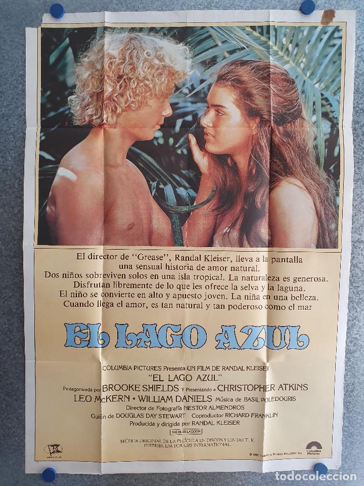 EL LAGO AZUL. BROOKE SHIELDS. AÑO 1980. POSTER ORIGINAL (Cine- Posters y Carteles - Drama)