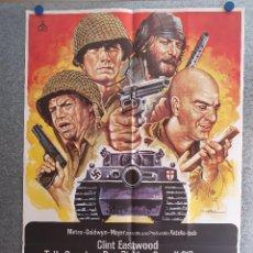 Cinema: LOS VIOLENTOS DE KELLY. CLINT EASTWOOD, DONALD SUTHERLAND, TELLY SAVALAS AÑO 1981 POSTER ORIGINAL. Lote 199956363