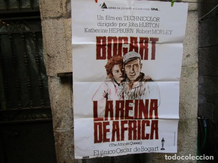 CARTEL POSTER PELICULA ' LA REINA DE AFRICA ' 1980 70X100CM, BOGART HEPBURN + INF (Cine - Posters y Carteles - Aventura)