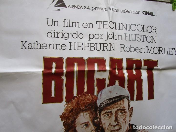 Cine: CARTEL POSTER PELICULA LA REINA DE AFRICA 1980 70X100CM, BOGART HEPBURN + INF - Foto 2 - 200175725