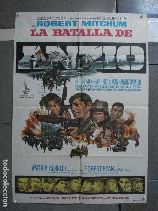 CDO 1310 LA BATALLA DE ANZIO ROBERT MITCHUM PETER FALK ROBERT RYAN POSTER ORIGINAL 70X100 ESTRENO (Cine - Posters y Carteles - Bélicas)