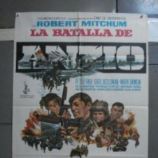 Cine: CDO 1310 LA BATALLA DE ANZIO ROBERT MITCHUM PETER FALK ROBERT RYAN POSTER ORIGINAL 70X100 ESTRENO. Lote 200356868
