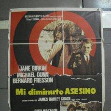Cine: CDO 1311 MI DIMINUTO ASESINO JANE BIRKIN POSTER ORIGINAL 70X100 ESTRENO. Lote 200357758