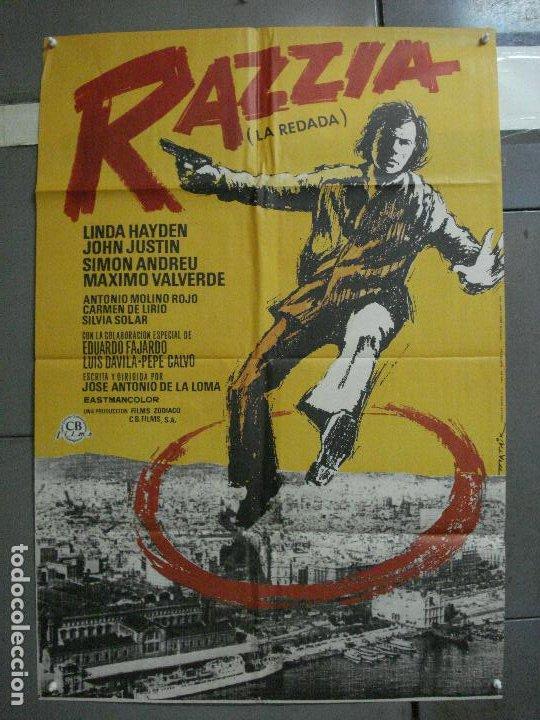 CDO 1326 RAZZIA (LA REDADA) JOSE ANTONIO DE LA LOMA MATAIX POSTER ORIGINAL 70X100 ESTRENO (Cine - Posters y Carteles - Clasico Español)