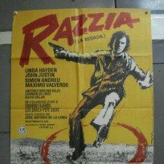 Cine: CDO 1326 RAZZIA (LA REDADA) JOSE ANTONIO DE LA LOMA MATAIX POSTER ORIGINAL 70X100 ESTRENO. Lote 200363538