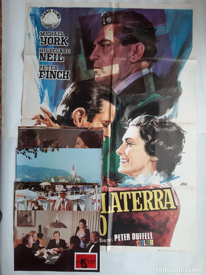 ANTIGUO CARTEL CINE INGLATERRA ME HIZO + 12 FOTOCROMOS 1973 CC7 (Cine - Posters y Carteles - Acción)