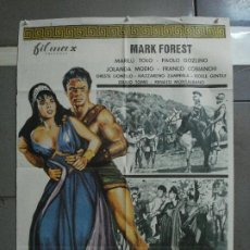 Cine: CDO 1333 EL MAGNIFICO GLADIADOR MARK FOREST MARILU TOLO PEPLUM POSTER ORIGINAL 70X100 ESTRENO. Lote 200519661