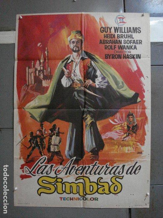 CDO 1340 LAS AVENTURAS DE SIMBAD GUY WILLIAMS JANO POSTER ORIGINAL 70X100 ESTRENO (Cine - Posters y Carteles - Ciencia Ficción)