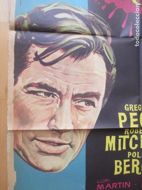 Cine: CARTEL CINE, EL CABO DEL TERROR, GREGORY PECK, ROBERT MITCHUM, 1962, C919 - Foto 2 - 200605527