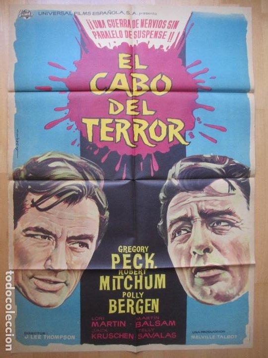 CARTEL CINE, EL CABO DEL TERROR, GREGORY PECK, ROBERT MITCHUM, 1962, C919 (Cine - Posters y Carteles - Suspense)