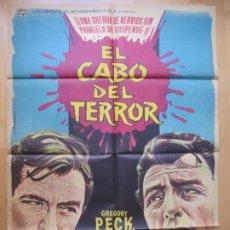 Cine: CARTEL CINE, EL CABO DEL TERROR, GREGORY PECK, ROBERT MITCHUM, 1962, C919. Lote 200605527