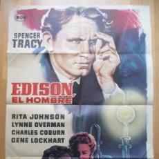 Cine: CARTEL CINE, EDISON, EL HOMBRE, SPENCER TRACY, RITA JOHNSON, 1961, C1841. Lote 200607302