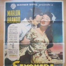 Cine: CARTEL CINE, SAYONARA, ADIOS, MARLON BRANDO PATRICIA OWENS, C1844. Lote 200608033