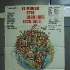 Cine: CDO 1384 EL MUNDO ESTA LOCO LOCO LOCO LOCO SPENCER TRACY POSTER ORIGINAL 70X100 ESTRENO. Lote 200619715