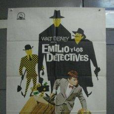 Cine: CDO 1398 EMILIO Y LOS DETECTIVES WALT DISNEY POSTER ORIGINAL 70X100 ESTRENO. Lote 200638728