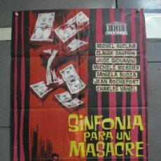 Cine: CDO 1400 SINFONIA PARA UN MASACRE RONDA DE CRIMENES MICHELE MERCIER ROCHEFORT POSTER 70X100 ESTRENO. Lote 200639865