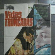 Cine: CDO 1412 VIDAS TRUNCADAS WILLIAM HOLDEN VIRNA LISI BOURVIL JANO POSTER ORIGINAL 70X100 ESTRENO. Lote 200647001