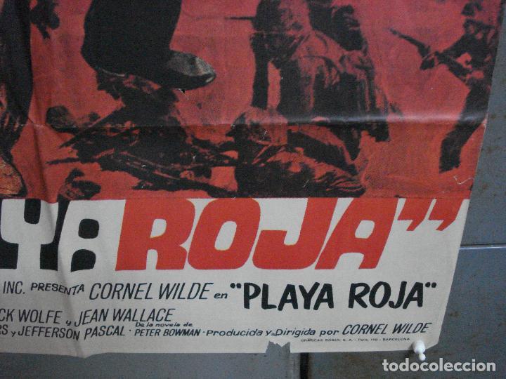 Cine: CDO 1413 PLAYA ROJA CORNEL WILDE POSTER ORIGINAL 70X100 ESTRENO - Foto 9 - 200647461