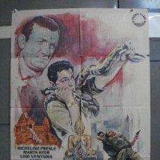 Cinema: CDO 1420 LOS MISTERIOS DE ANGKOR MARTHA HYER LINO VENTURA SABU PRESLE POSTER ORIGINAL 70X100 ESTRENO. Lote 200652762