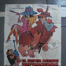 Cine: CDO 1430 EL SUPERAGENTE PICAPIEDRA FLINSTONES SERIE TV DIBUJOS ANIMADOS POSTER ORIG 70X100 ESTRENO. Lote 200658587