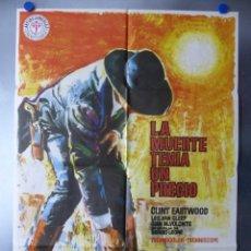Cine: POSTER - LA MUERTE TENIA UN PRECIO, CLINT EASTWOOD - AÑO 1978. Lote 200747006