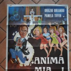Cine: CARTEL DE CINE DE LA PELICULA ANIMA MIA...! MEDIDAS 100 X 70 CM . Lote 200790413