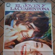 Cine: CARTEL DE CINE EL JOVEN Y LA CUARENTONA. JEAN SIMMONS, LEONARD WHITING. 100 X 70 CM. Lote 200792623