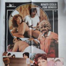 Cine: ANTIGUO CARTEL CINE EL MASAGISTA + 8 FOTOCROMOS 1979 CC60. Lote 201110406