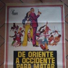 Cine: CARTEL DE LA PELÍCULA DE ORIENTE A OCCIDENTE PARA MATAR. HISPAMEX FILMS. . Lote 201193692