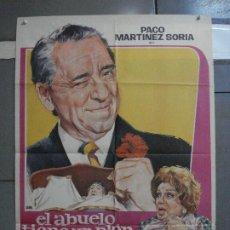 Cine: CDO 1450 EL ABUELO TIENE UN PLAN PACO MARTINEZ SORIA JANO POSTER ORIGINAL 70X100 ESTRENO. Lote 201203925